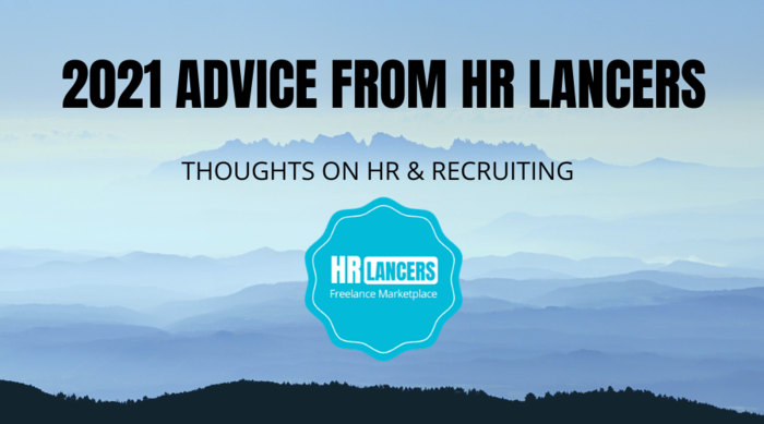 Logo of HR Lancers in front of foggy hills