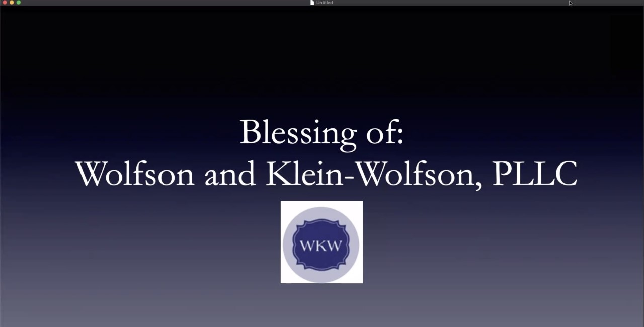 Blessing WKW title slide